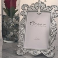 Blessed Events Silver Cross Design Photo Frames