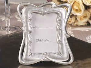 Graceful Designs Silver Place Card Frame image