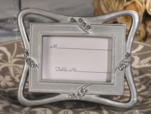 Contemporary Design Silver Place Card Frame Favor image