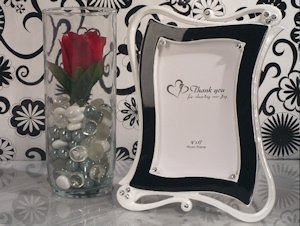 Contemporary Black and White Photo Frame Favors image