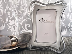 Contemporary Silver Photo Frame Favors image