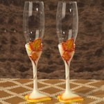 Splendid Autumn Toasting Glasses Set