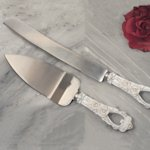 Elegant Rose Cake Server Set