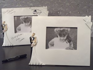 Best Wishes Bride and Groom Signature Photo Frames image