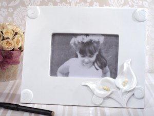 Calla Lily Picture Frame Wedding Guest Book image