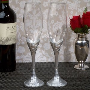 Silver Castle Toasting Flutes image