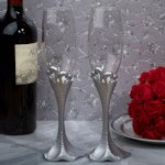 Two Hearts Beat as One Toasting Flutes