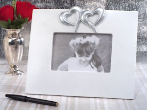 Two Hearts Beat as One Wedding Guest Signature Frame image