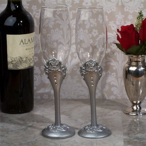 Royalty for a Day Crown Toasting Flutes image