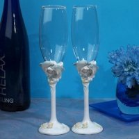 Oceans of Love Toasting Flutes