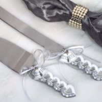 Wedding Bells Cake and Knife Set
