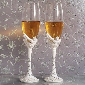 Belle of the Ball Shoe Design Wedding Toasting Flutes image