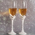 Belle of the Ball Shoe Design Wedding Toasting Flutes