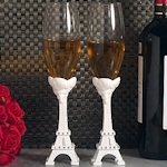 Elegant Paris Wedding Collection Toasting Flutes