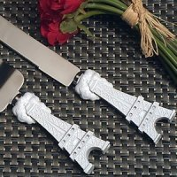 Elegant Paris Wedding Collection Cake and Knife Set