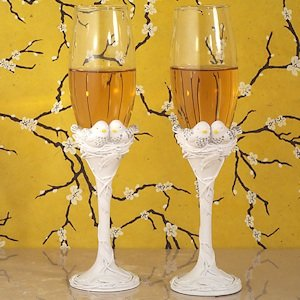 Lovebirds Wedding Collection Toasting Flutes image