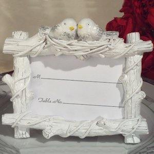 Lovebirds Place Card Holder image