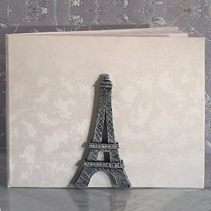 Stunning Eiffel Tower Wedding Guest Book image