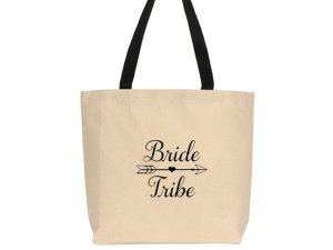 Bride Tribe Design Canvas Tote Bag image