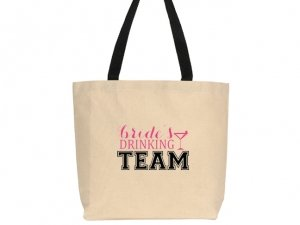 Brides Drinking Team Design Canvas Tote Bag image