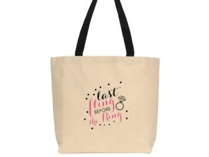 Last Fling Before The Ring Design Canvas Tote Bag image