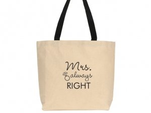 Mrs. Always Right Design Canvas Tote Bag image