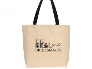 The Real Bridesmaids Design Canvas Tote Bag image