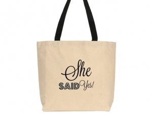 She Said Yes Design Canvas Tote Bag image