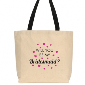 Will You Be My Bridesmaid Hearts Design image