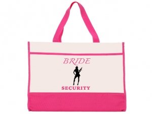 Brides Security Design Pink and Natural Tote Bag image