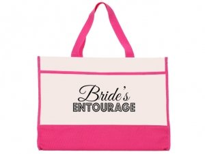 Brides Entourage Design Pink and Natural Tote Bag image