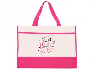 Last Fling Before The Ring Pink and Natural Tote Bag image