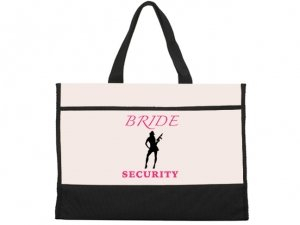 Brides Security Design Black and Natural Tote Bag image