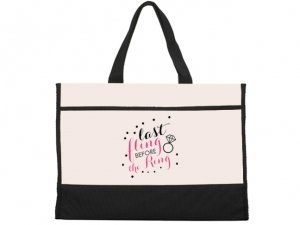 Last Fling Before The Ring Black and Natural Tote Bag image