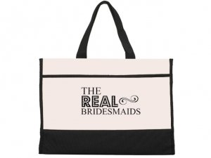 The Real Bridesmaids Black and Natural Tote Bag image