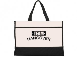 Team Hangover Black and Natural Tote Bag image