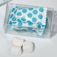 Bridal Shower Dots Gift Box Mint Candy Favors (Blue or Pink)
