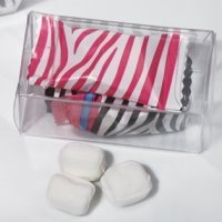 Pink Zebra Design Mint Candy Favors in Gift Box