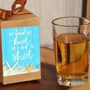 Take a Shot We Tied the Knot Boxed Shot Glass Favor image