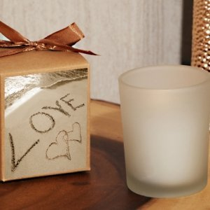 Love on the Beach Boxed Frosted Glass Candle Favor image