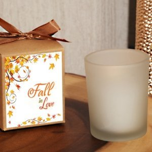Fall in Love Themed Rustic Boxed Candle Favor image