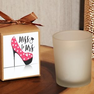From Miss. to Mrs. Dazzling Diva Rustic Boxed Candle Favor image