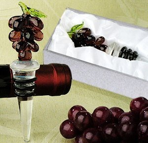 Art Deco Grapes Wine Stopper image