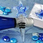 Art Deco Blue Starfish Wine Stopper Favors