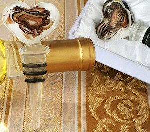 Art Deco Swirl Heart Wine Stopper image
