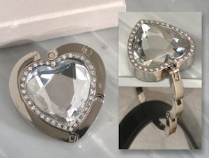 Crystal Heart Handbag Holder Favor image