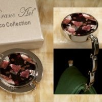 Art Deco Rich Colors Round Hand Bag Holder Favors