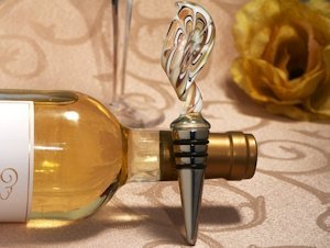 Art Deco Gold Twist Wine Stopper Favors image