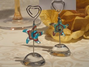 Art Deco Glass Starfish Place Card Holders image