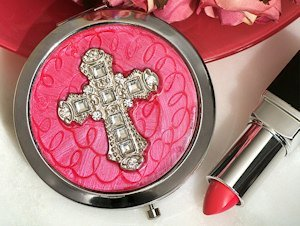 Cross Design Stylish Compact Mirror Favors image